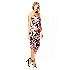 Quiz - Multi colour floral print bodycon dress