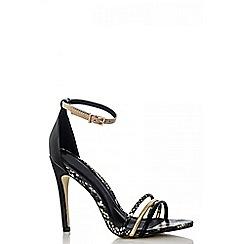 Quiz - Black snake strap sandals