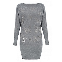 Quiz - Grey long sleeve butterfly tunic