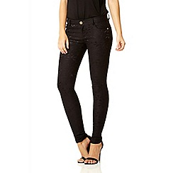 Quiz - Black lace stretch skinny trousers