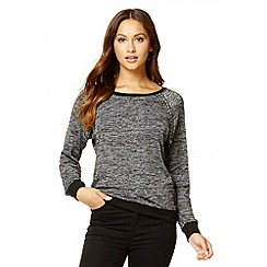 Quiz - Grey diamanté long sleeve jumper