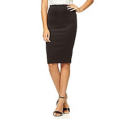 Quiz - Black midi bodycon skirt
