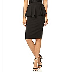 Quiz - Black marcella peplum skirt