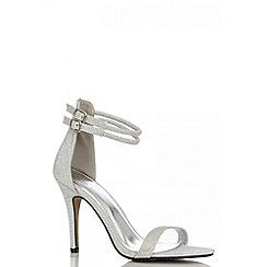 Quiz - Silver shimmer strap sandals