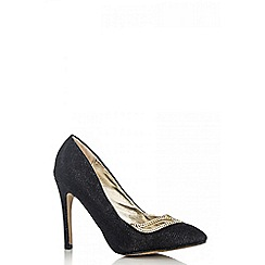 Quiz - Black shimmer diamant  point shoes