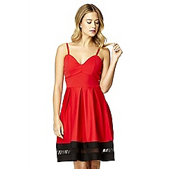 Quiz - Red Strappy Skater Dress