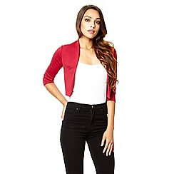 Quiz - Berry crop 3/4 sleeve jacket