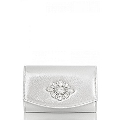 Quiz - Silver shimmer jewel trim bag