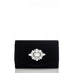 Quiz - Black jewel trim bag