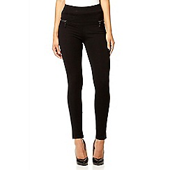 Quiz - Black high waisted zip leggings