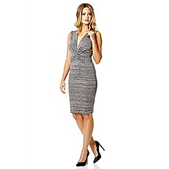 Quiz - Grey dye knot front sleeveless dress