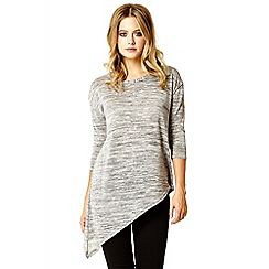 Quiz - Grey silver 3/4 knit top