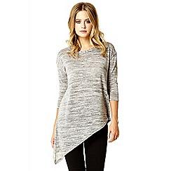 Quiz - Grey silver 3/4 knit top