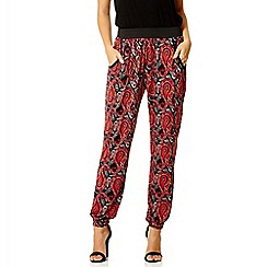 Quiz - Red paisley harem trousers