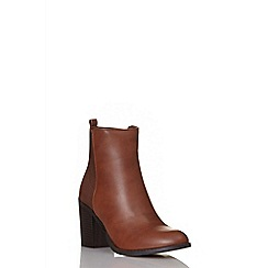 Quiz - Tan pu ankle boots