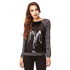 Quiz - Grey knit sequin jumper