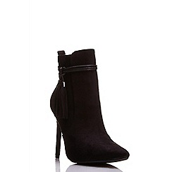 Quiz - Black tassel pointed shoe boots