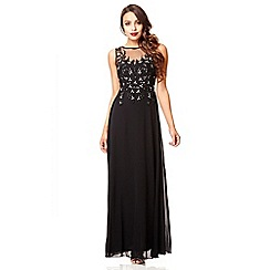 Quiz - Black lace sequin maxi dress