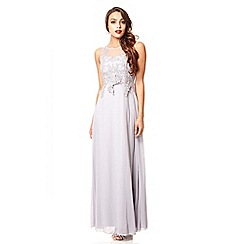 Quiz - Grey lace sequin maxi dress