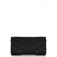 Quiz - Black stripe shimmer bag