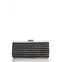 Quiz - Black diamante clutch bag