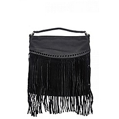Quiz - Black tassel fringe bag