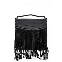 Quiz - Black tassel fringe bag