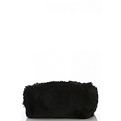 Quiz - Black faux fur bag
