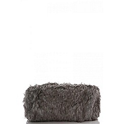 Quiz - Grey faux fur bag