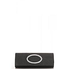 Quiz - Grey diamante shimmer oval design bag