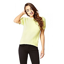 Quiz - Lime fluffy turtle neck jumper