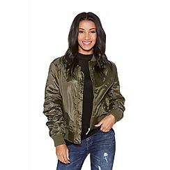 Quiz - Khaki bomber jacket