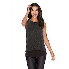 Quiz - Black Brillo Sleeveless Chiffon Top