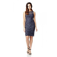 Quiz - Grey Glitter Lace Dress