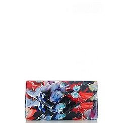 Quiz - Multi Coloured Floral Patent Envelope Bag