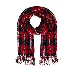Quiz - Red And Black Check Scarf