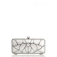 Quiz - Silver Cage Box Clutch Bag