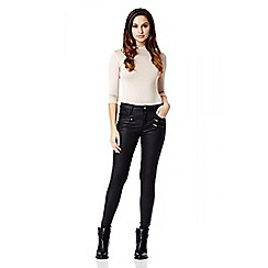Quiz - Black Zip Detail Skinny Jeans