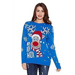 Quiz - Blue Reindeer Jumper