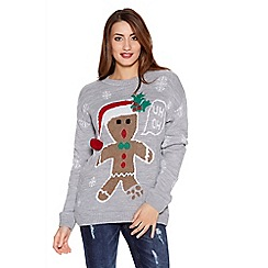 Quiz - Grey Gingerbread Man Jumper