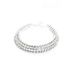 Quiz - Silver diamante choker