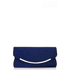 Quiz - Navy glitter shimmer bag