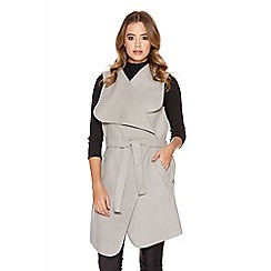 Quiz - Light grey waterfall tie waistcoat