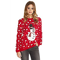 Quiz - Red Sequin Snowman Jumper