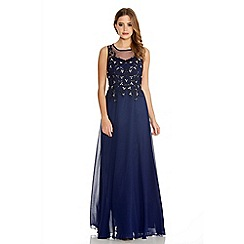 Quiz - Navy chiffon lace sequin maxi dress