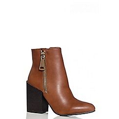 Quiz - Brown Pointed Toe Ankle Boots