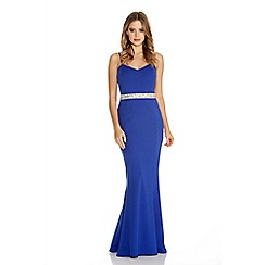 Quiz - Royal blue embellished strap dress