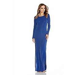 Quiz - Royal blue brillo cowl back maxi dress