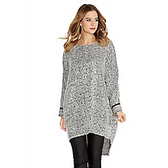 Quiz - Grey Boucle Oversized Jumper