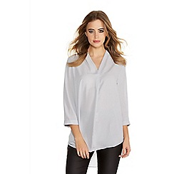 Quiz - Grey Crepe 3/4 Sleeve Top